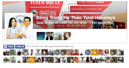 Like Fanpage Dong Trung Ha Thao