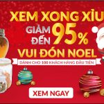 Chương trình Ưu Đãi giảm đến 95% Vui Đón Noel